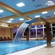 Cascata em aço inox para piscina Chafariz